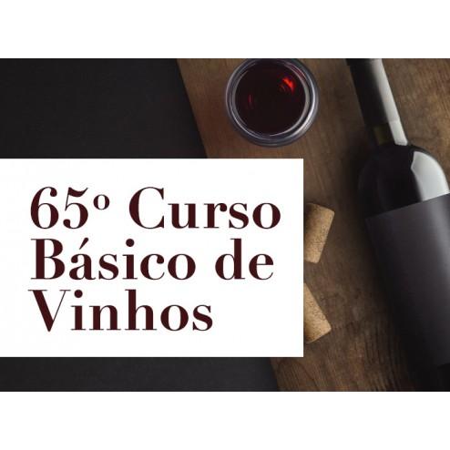 65° CURSO BÁSICO DE VINHOS
