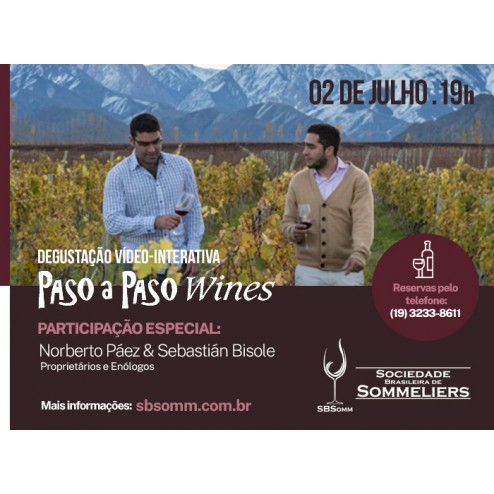 Degustação Vídeo-Interativa: Paso a Paso Wines (Kit 2)