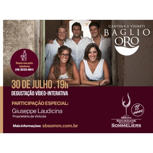 Degustação on-line: Vinícola Baglio Oro Sicília Itália