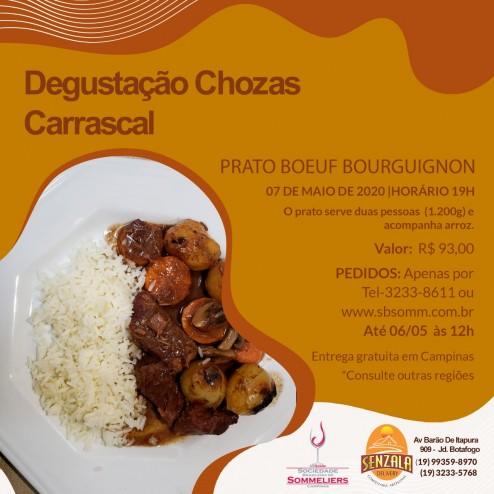 Jantar para acompanhar a degustação vídeo-interativa: Chozas Carrascal
