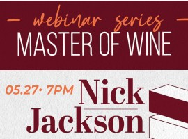 WEBINAR SERIES MASTER OF WINE - NICK JACKSON